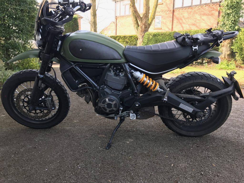 Modified Ducati Scrambler Urban Enduro