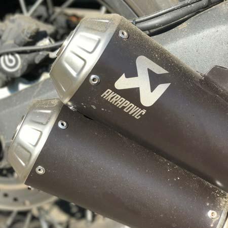 akrapovic titanium slip line exhaust s d8so3-hcubtbl